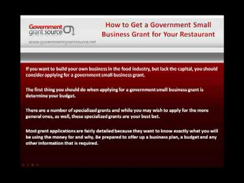 How to Get a Government Small Business Grant for Your Restaurant
