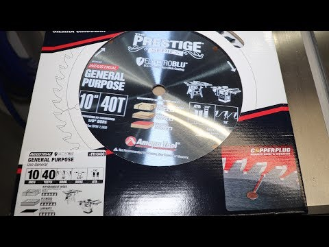 Amana Tool 40 Tooth GP Saw Blade PR1040C First Impressions