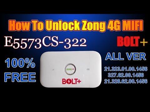ZONG 4G BOLT+ Huawei E5573Cs-322 Free Unlock All Version Full Working 1000%  Ok