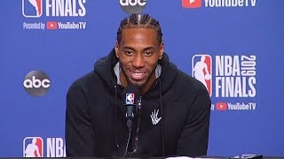 Kawhi Leonard Rare Emotion After Reporter Questions Giving Up Last Possession In Game 5!