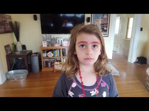 Little Girl Lies About Putting on Makeup