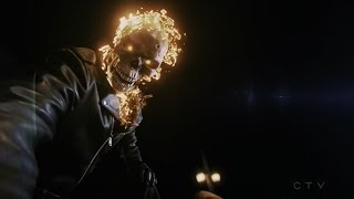 Agents of Shield 4x06-Johnny Blaze Ghost Rider passes on The Spirit of Vengeance to Robbie