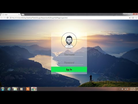 Login Page Design in Html CSS - Responsive Login Form Tutorial