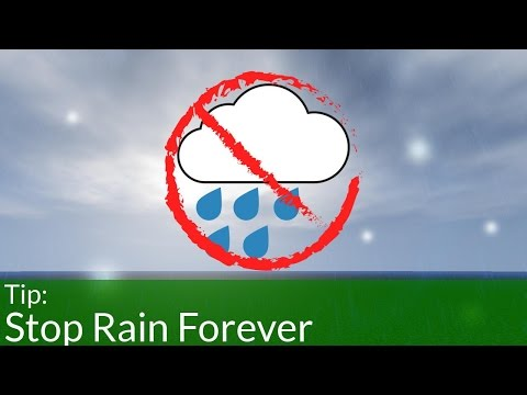 How to Stop Rain in Minecraft Forever