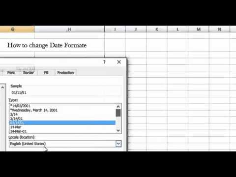 How to change Date Format in Microsoft Excel