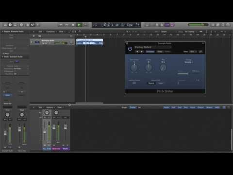 Logic Pro X Tutorial [2] How To Change Pitch