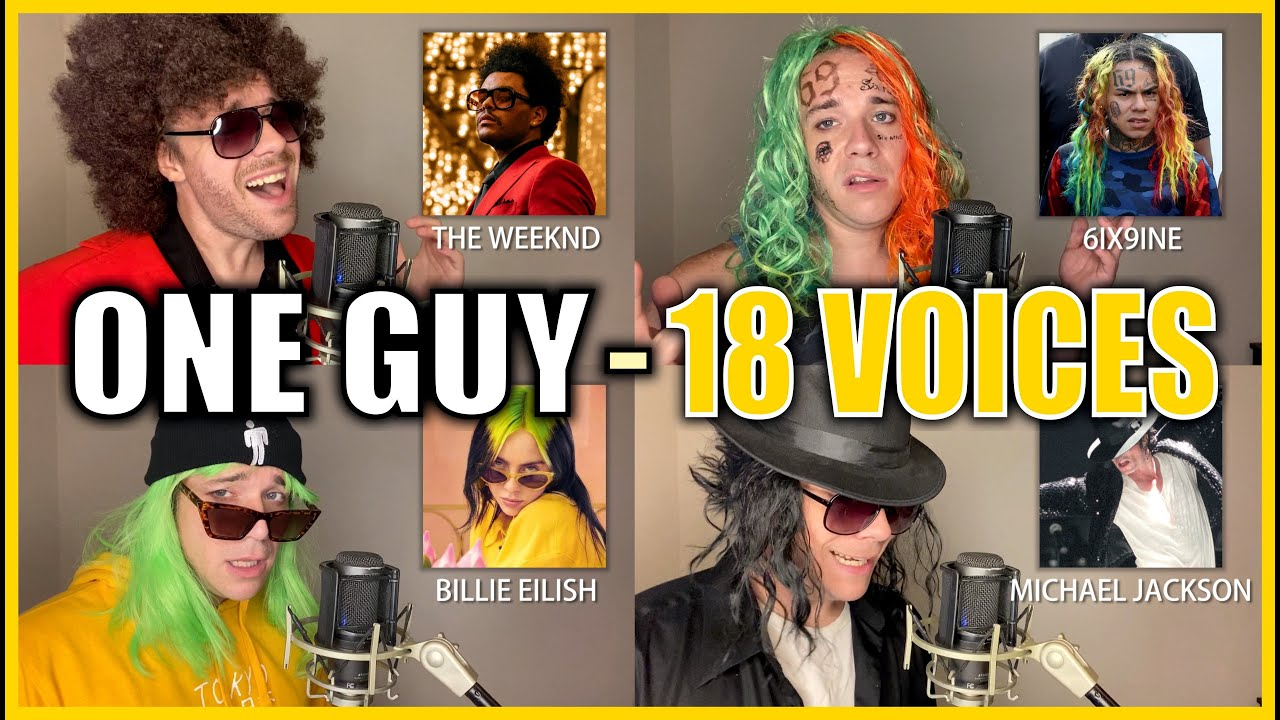 ONE GUY, 18 VOICES! (Post Malone, Britney Spears, Harry Styles & MORE)