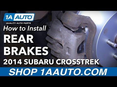 How to Install Rear Brake Pads Rotors 2014 Subaru XV Crosstrek