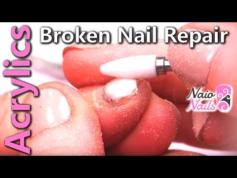 How to Repair a Snapped Acrylic Nail