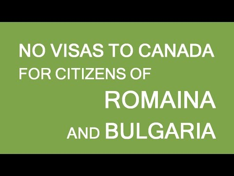 Visa free entry to Canada for Romania and Bulgaria. LP Group