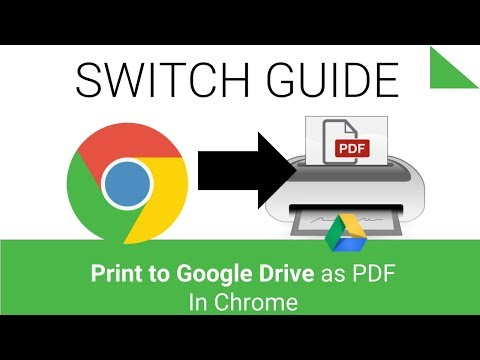 Print to Google Drive as a PDF File with Chrome