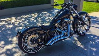 Harley-Davidson FXSB Breakout Exhaust Sound - PakVim net HD