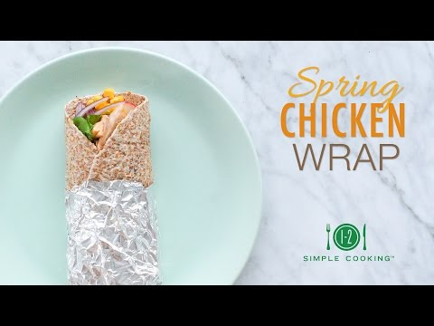 Spring Chicken Wrap | 1-2 Simple Cooking