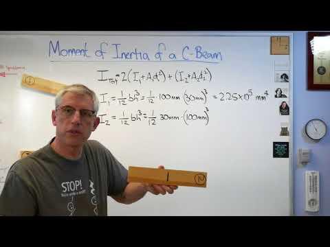 Moment of Inertia of a C Beam (or U Beam) -  Brain Waves