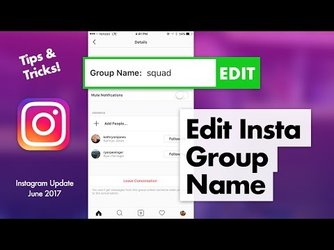 How to Edit Group Name on Instagram