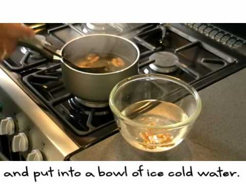 How to blanch walnuts