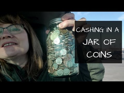 Cashing In a Jar of Coins at the Bank | First Vlog by Karen