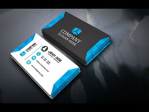 how to make modern Business card Design in CorelDRAW