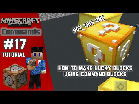 How to make Working Lucky Block in MCPE