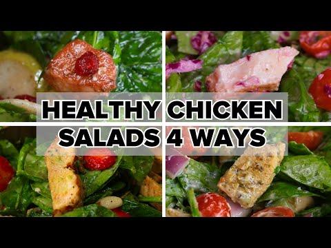 Healthy Chicken Salads 4 Ways