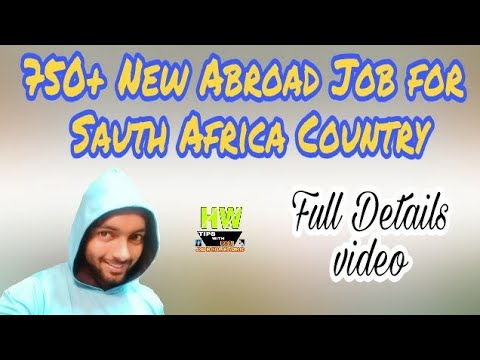 New Abroad Job At South Africa Country,750+ Jobs Post Salary 660 USD+ Food