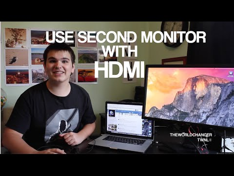 HOW TO USE SECOND MONITOR WITH HDMI