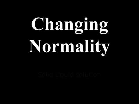 How to change normality of a solution