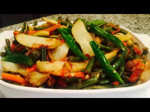 How To Make Fosolia/ Green Beans Alicha Vegan Habesha Food