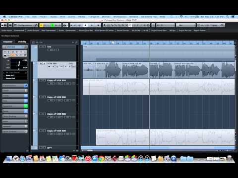 Cubase 8 - How to comp vocals in Cubase