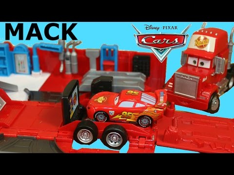 DISNEY CARS MACK TRANSFORMING TRUCK PLAYSET STORY SETS CONNECT & PLAY LIGHTNING MCQUEEN