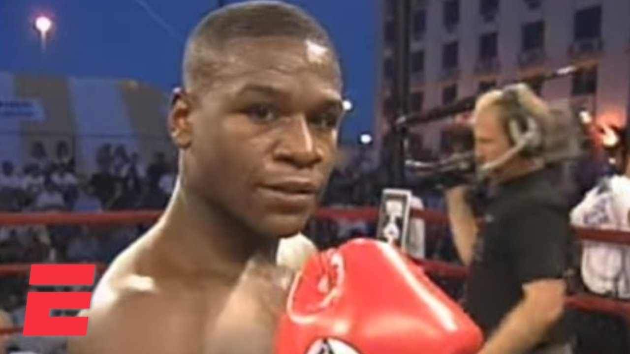 Floyd Mayweather wins his pro boxing debut by knockout in 1996   ESPN Archive