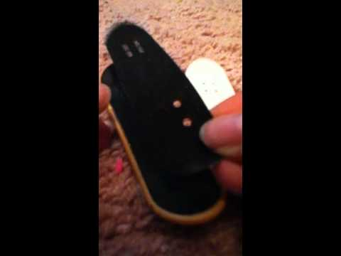 How to Put New GripTape on A Tech Deck