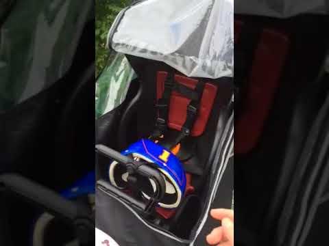子供乗せ用自転車レインカバー