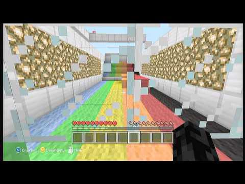 Minecraft Xbox rainbow runner