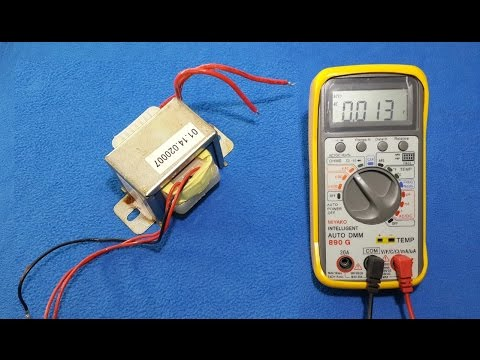 How to test a transformer with digital multimeter and oscilloscope.
