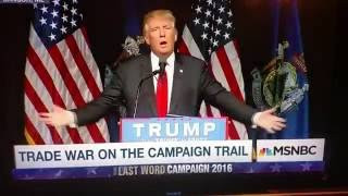 Trump speaks incoherent nonsense at rally in Bangor ME on June 29 2016