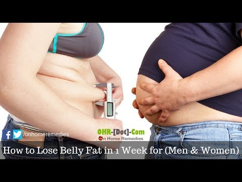How to Lose Belly Fat in 1 Week for (Men & Women) | 5 Easy Tips