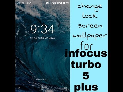 How to change lock screen wallpaper for infocus turbo 5 plus mobile