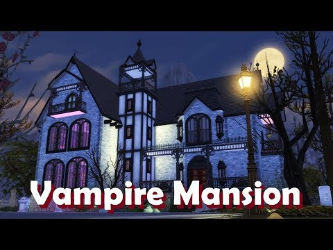 Sims 4 | House Building | Vampire Mansion