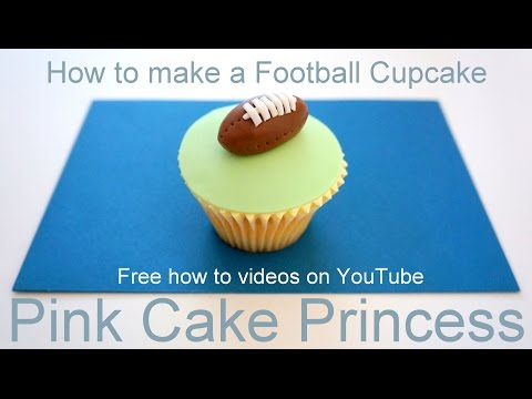 How-to make a Football Cupcake for Super Bowl XLVIII