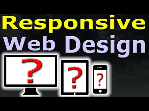 5 MIN TUTORIAL - Responsive Web Design - SIMPLE EASY