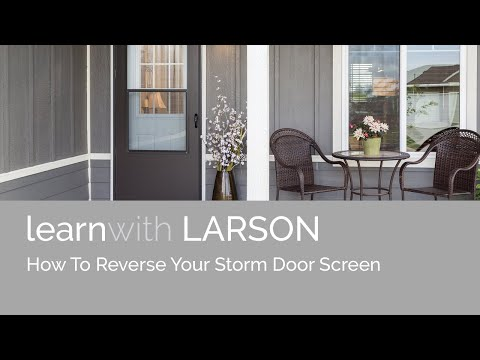 How-to Reverse Your Storm Door Screen