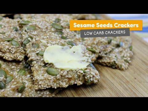 Sesame seed CRACKERS • Low Carb Crackers #1