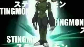 Wormmon Shinka  Stingmon!