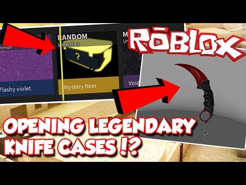 LEGENDARY KNIFE CASES OPENING IN ROBLOX PHANTOM FORCES