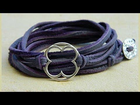 Jewelry How To - Make Leather Wrap Bracelets