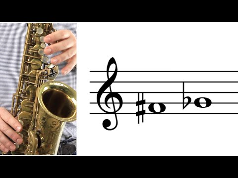 ALTO SAX: How to Play F-sharp (G-flat)