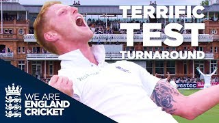 England Complete One Of The Great Test Match Turnarounds v New Zealand at Lord