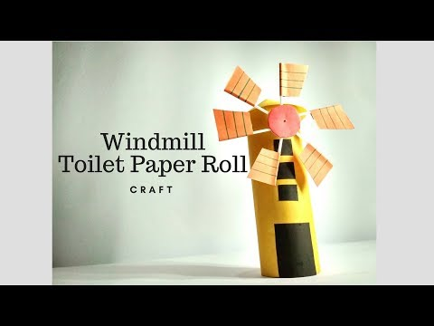 How To Make Paper Windmill | Windmill Craft For Science Project | Toilet Paper Roll Windmill