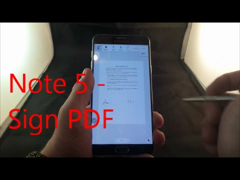How To Sign A PDF On The Galaxy Note 5